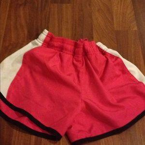 Pink workout shorts